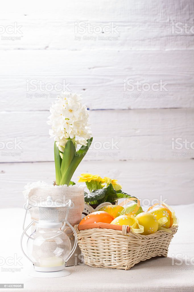 Beautiful easter background stock photo