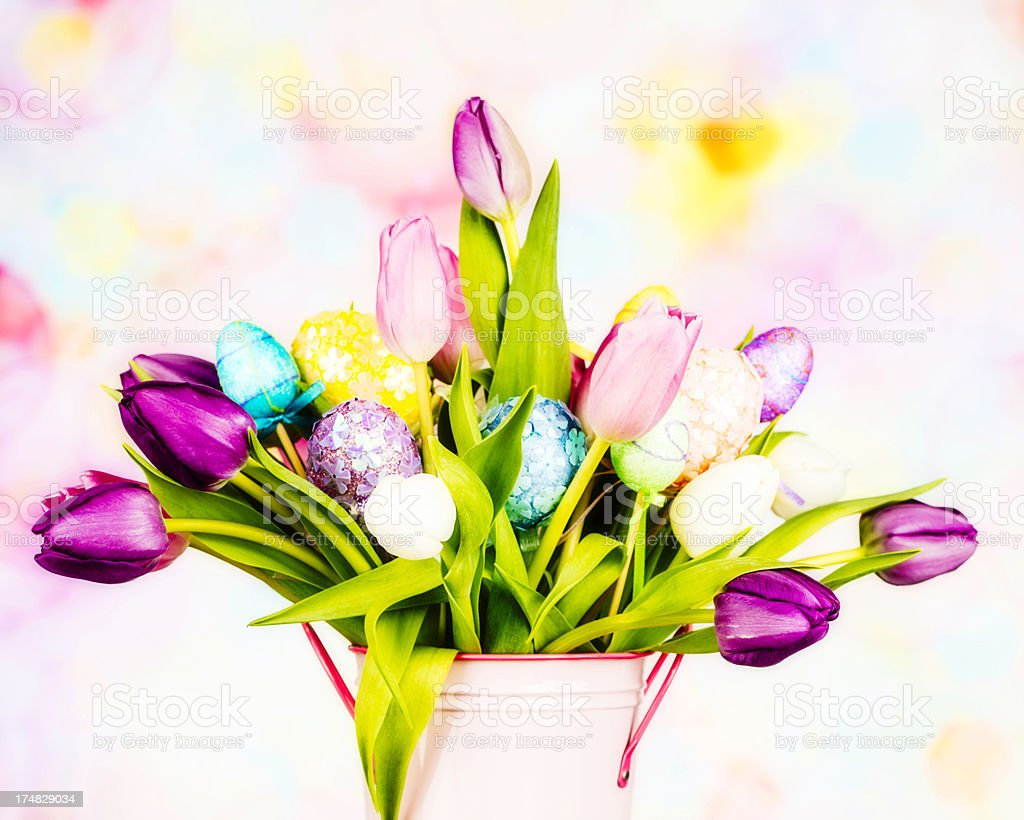 Beautiful Easter Bouquet stock photo