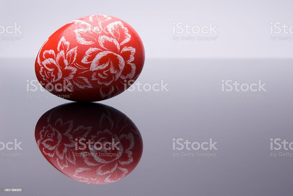 Beautiful Easter Egg with reflection royalty-free stock photo