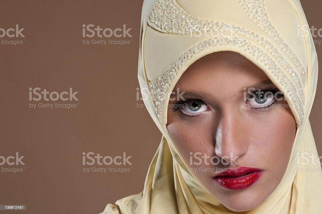 Beautiful Eastern European Muslim Woman royalty-free stock photo