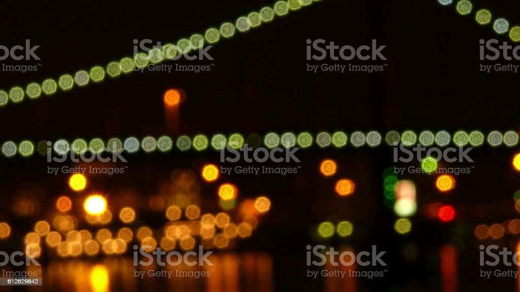 Beautiful effect from the lights stock photo