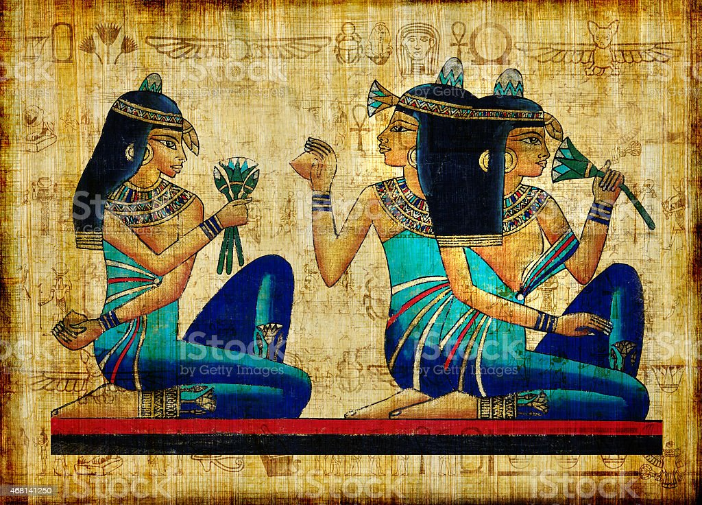 Beautiful Egyptian Papyrus stock photo