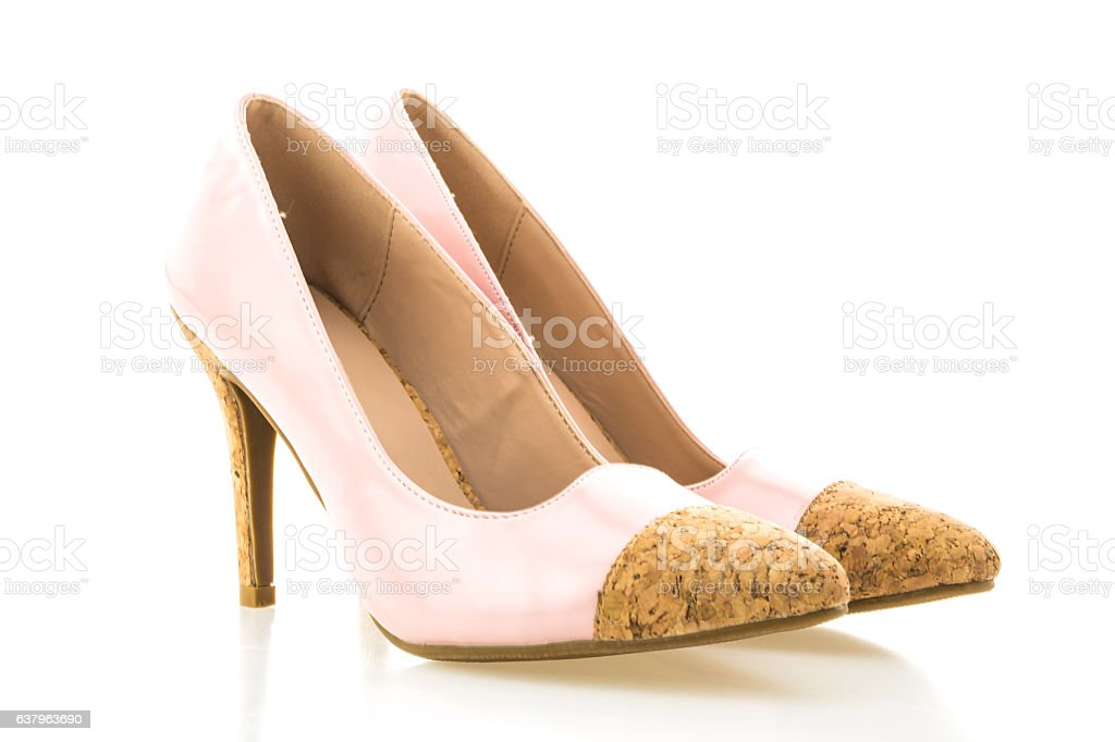 Beautiful elegance and luxury pink high heel stock photo