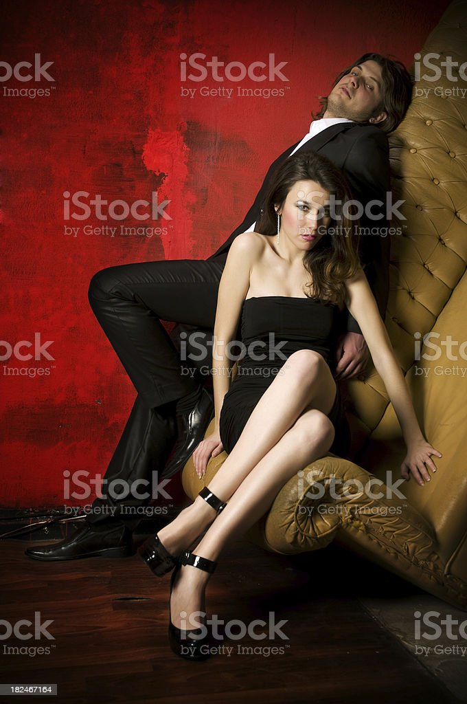 Beautiful Elegance Couple royalty-free stock photo
