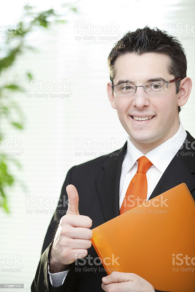 beautiful elegant business man manager portrait in office royalty-free stock photo