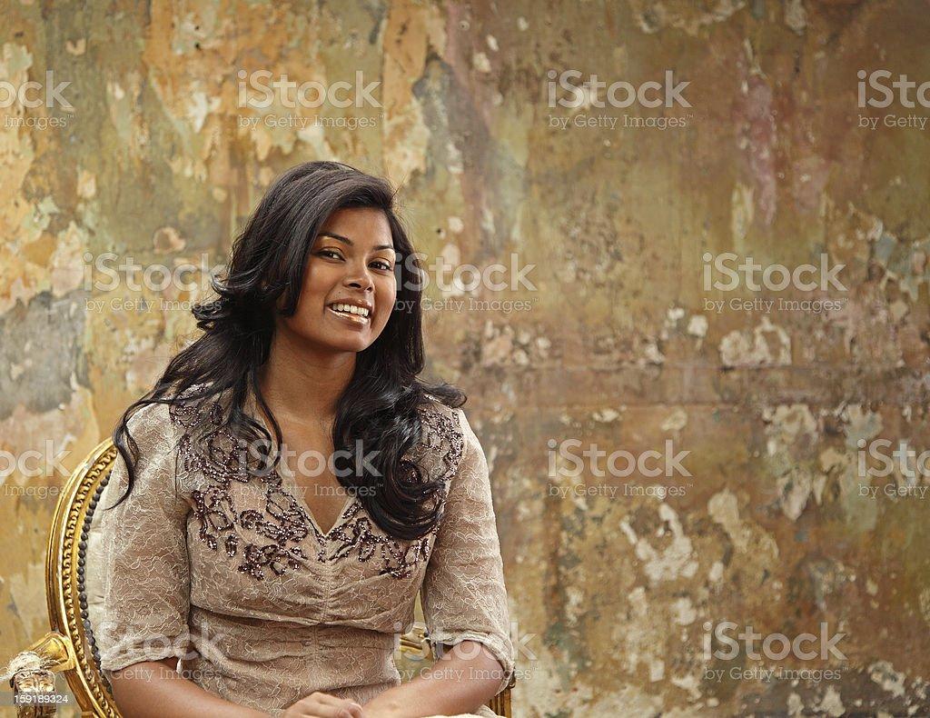 beautiful elegant lady royalty-free stock photo