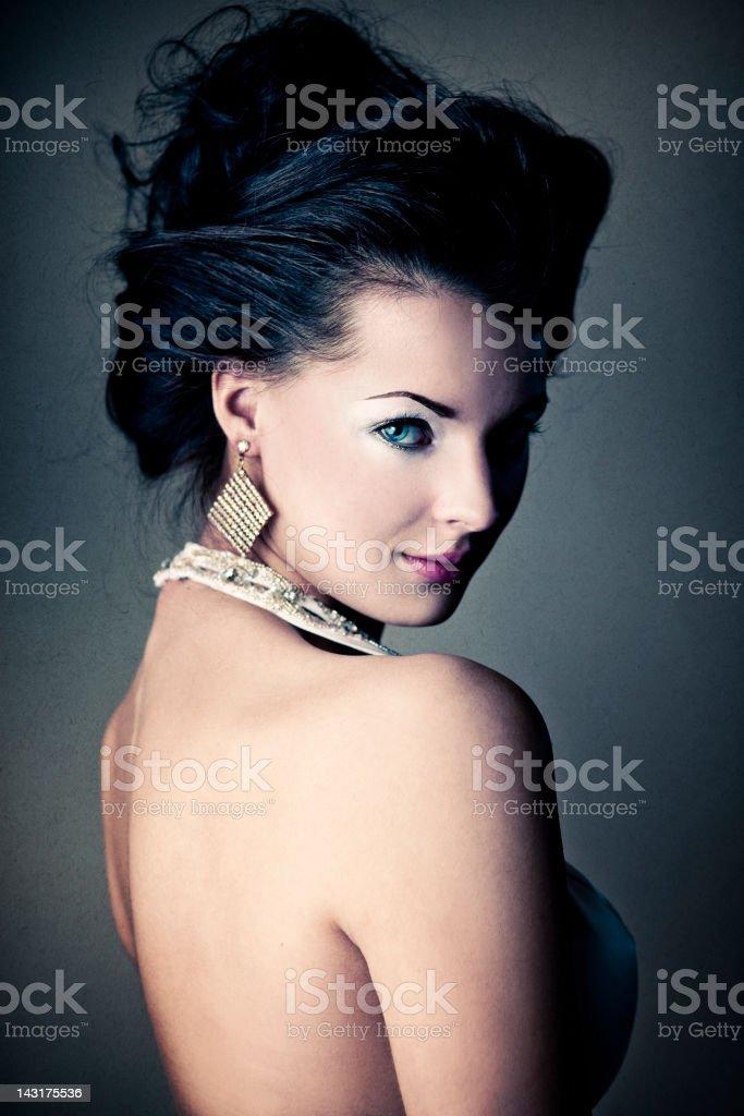 Beautiful, Elegant Portrait of Attractive Woman royalty-free stock photo