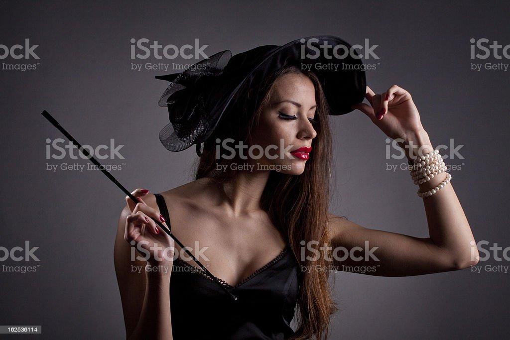 Schöne elegante Frau Lizenzfreies stock-foto