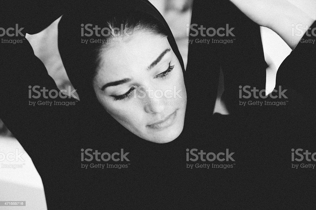 Beautiful Emirati woman stock photo
