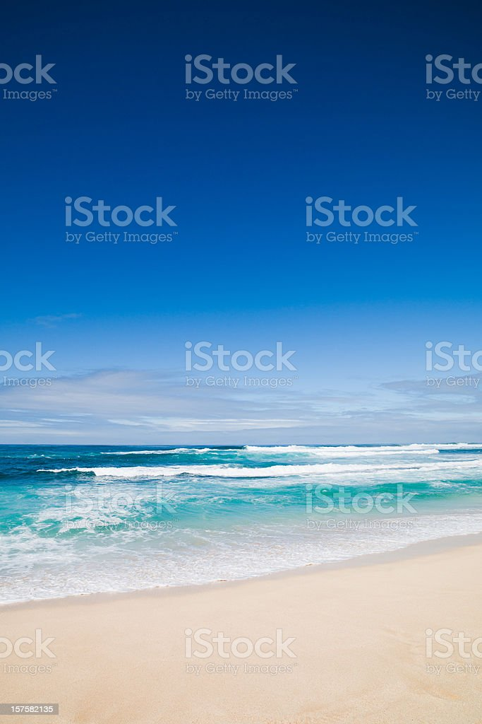 Beautiful Empty Beach Hawaii royalty-free stock photo