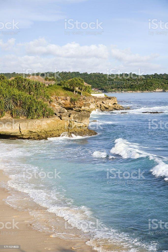 Beautiful empty beach stock photo