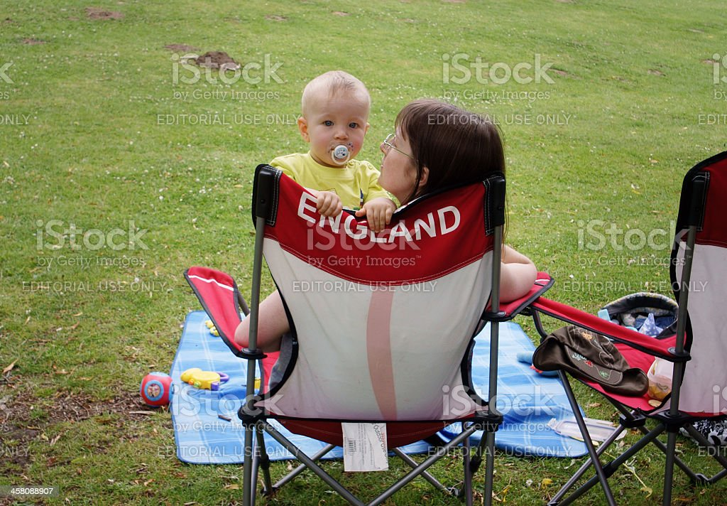 Beautiful England - baby and mum stock photo