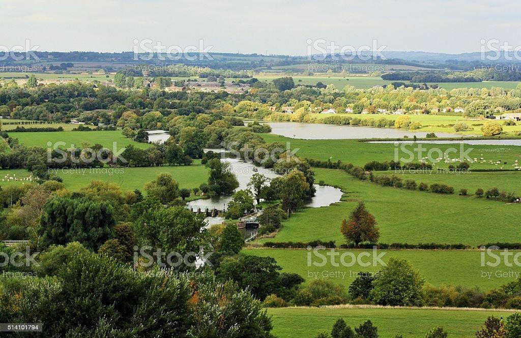 Beautiful English Countryside stock photo