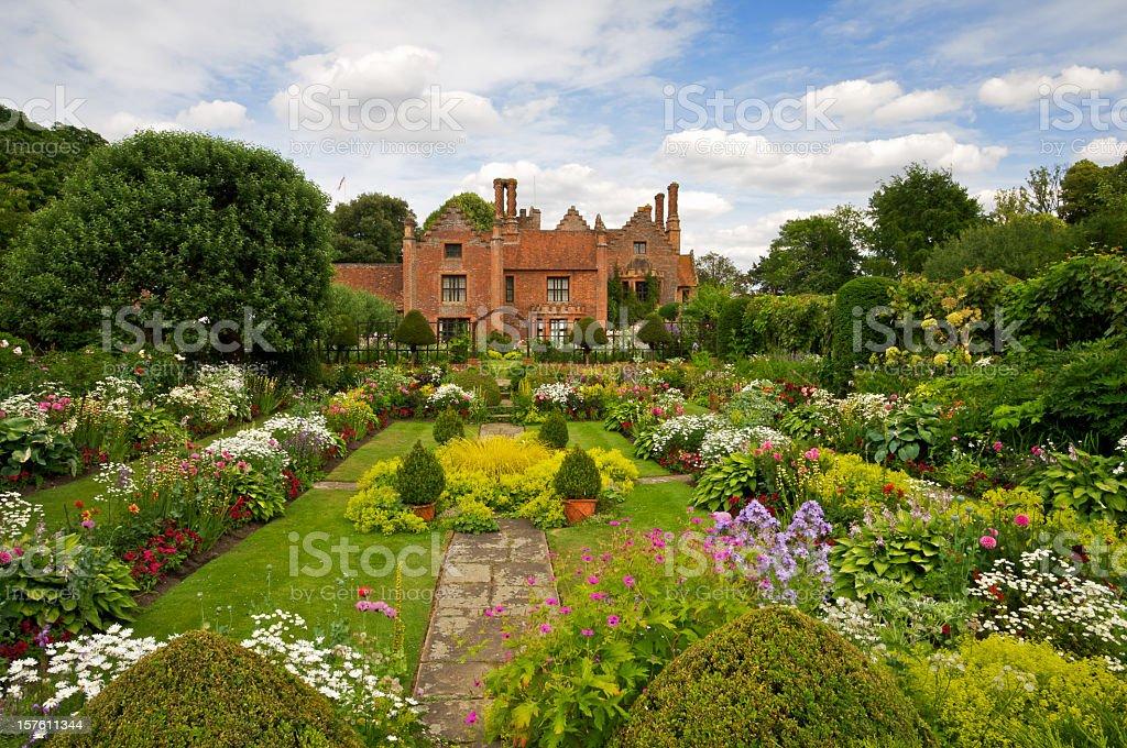 Beautiful English Garden stock photo