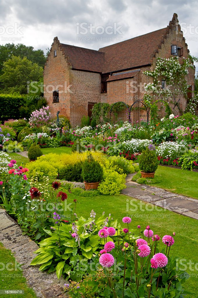 beautiful English garden royalty-free stock photo