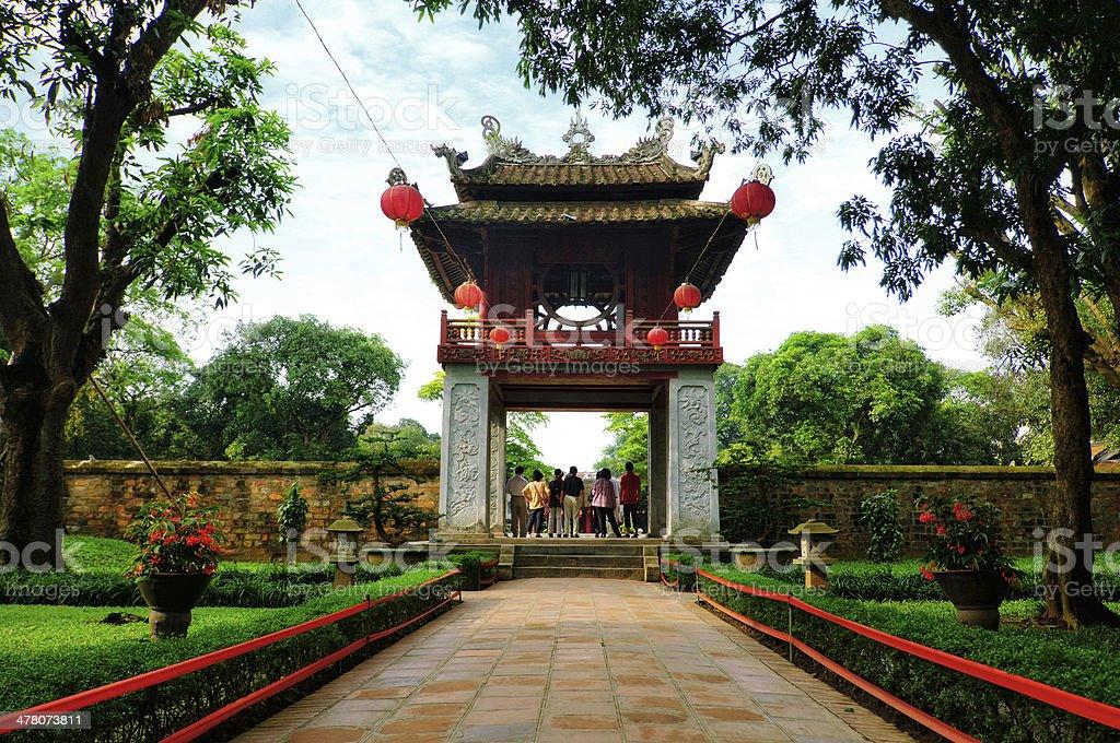 Beautiful Entrance At The Temple Of Literature (Van Mieu) Hanoi stock photo