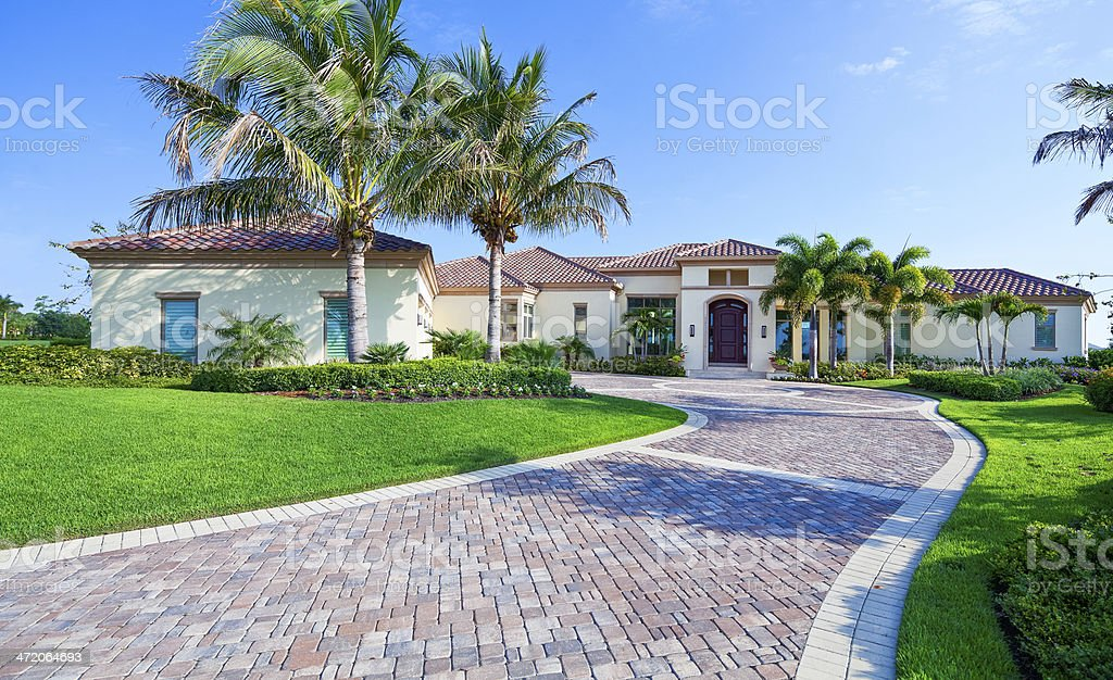 Beautiful Estate Home in Florida stock photo