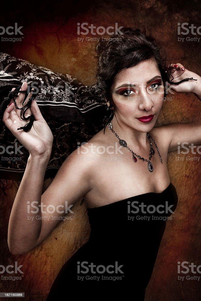 Beautiful Ethnic Woman in Studio stock photo
