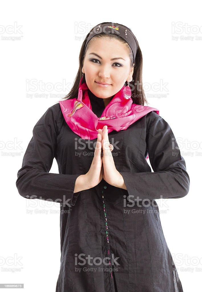 Beautiful ethnic woman portrait royalty-free stock photo