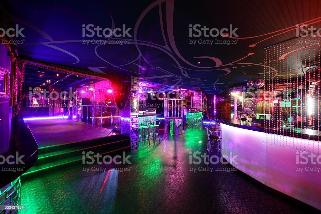 beautiful european night club interior stock photo