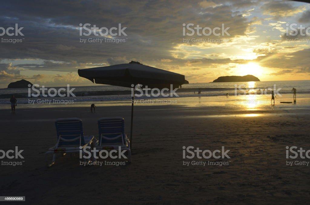 Schönen Abend am Strand Lizenzfreies stock-foto
