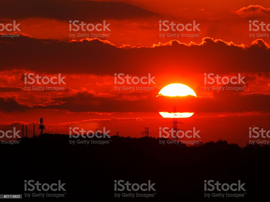 Beautiful evening sun stock photo