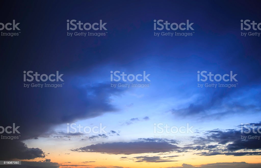 beautiful evening sunset stock photo