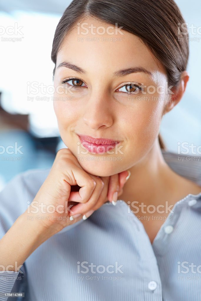 Beautiful executive smiling stock photo