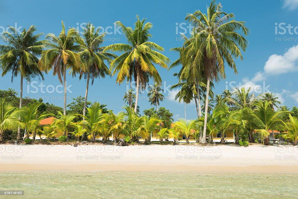 Beautiful exotic beach at Koh Kood island in Thailand stock photo