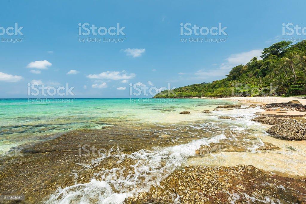 Beautiful exotic beach at koh kood island,Thailand stock photo
