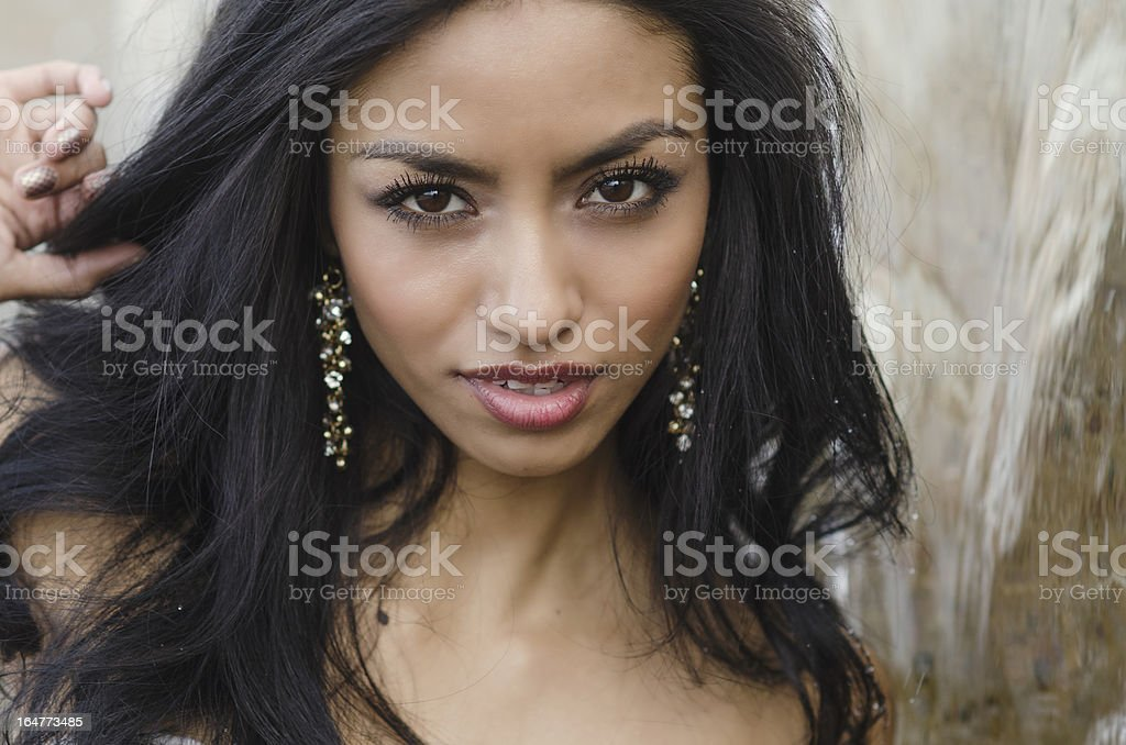 Beautiful exotic young woman royalty-free stock photo