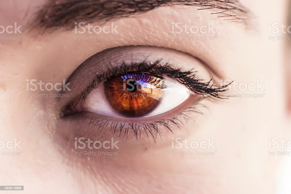 Beautiful eye detail stock photo