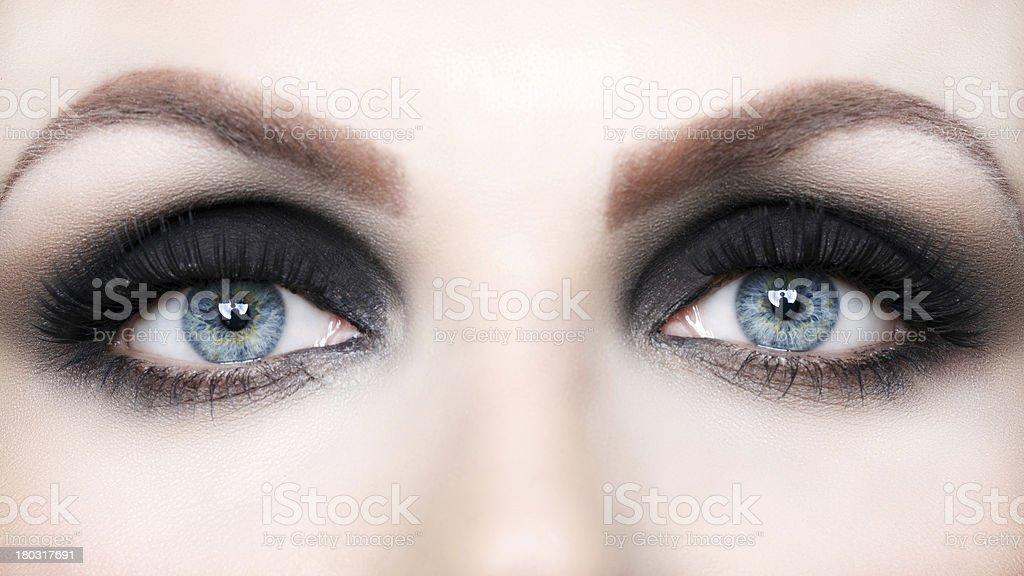 Beautiful eye makeup close up stock photo