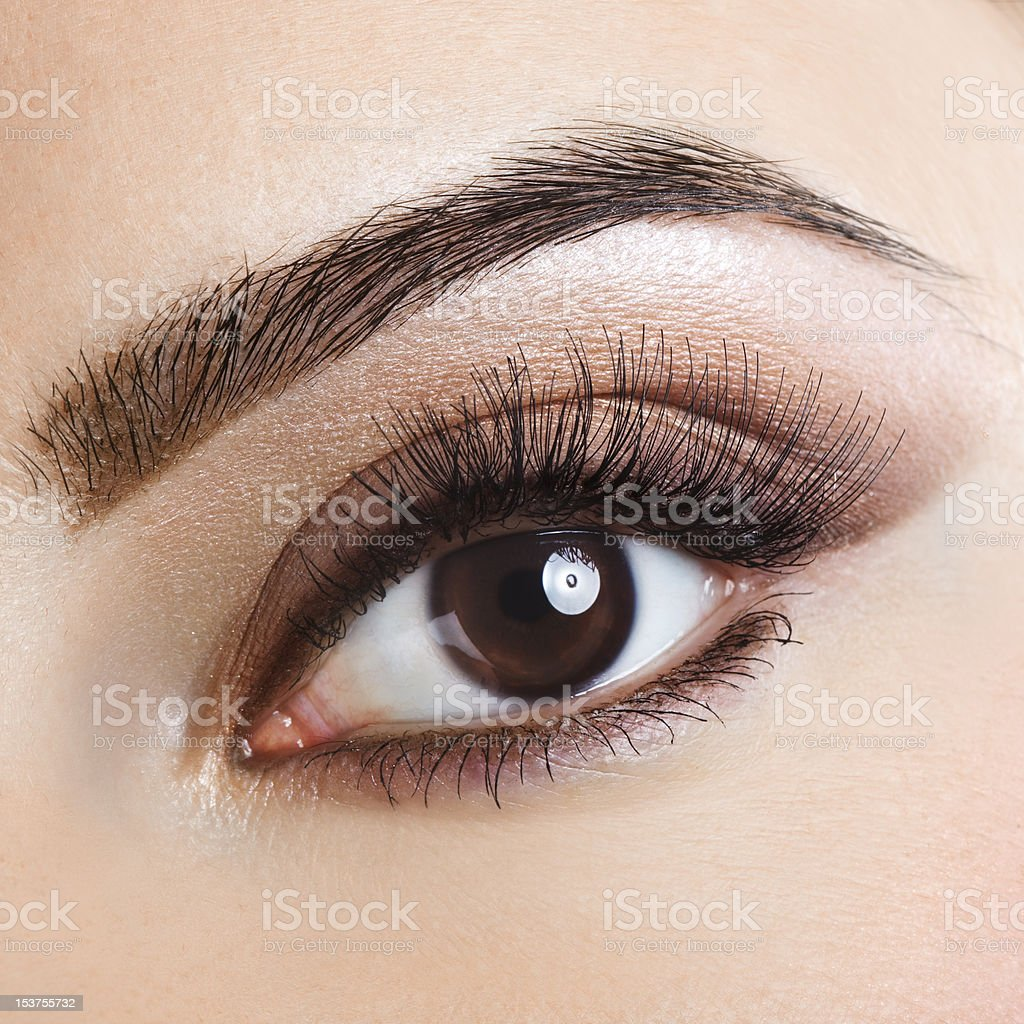 Beautiful eye stock photo