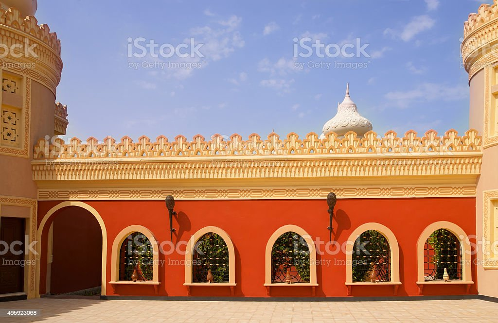 Beautiful, fabulous views of the old Arab city stock photo