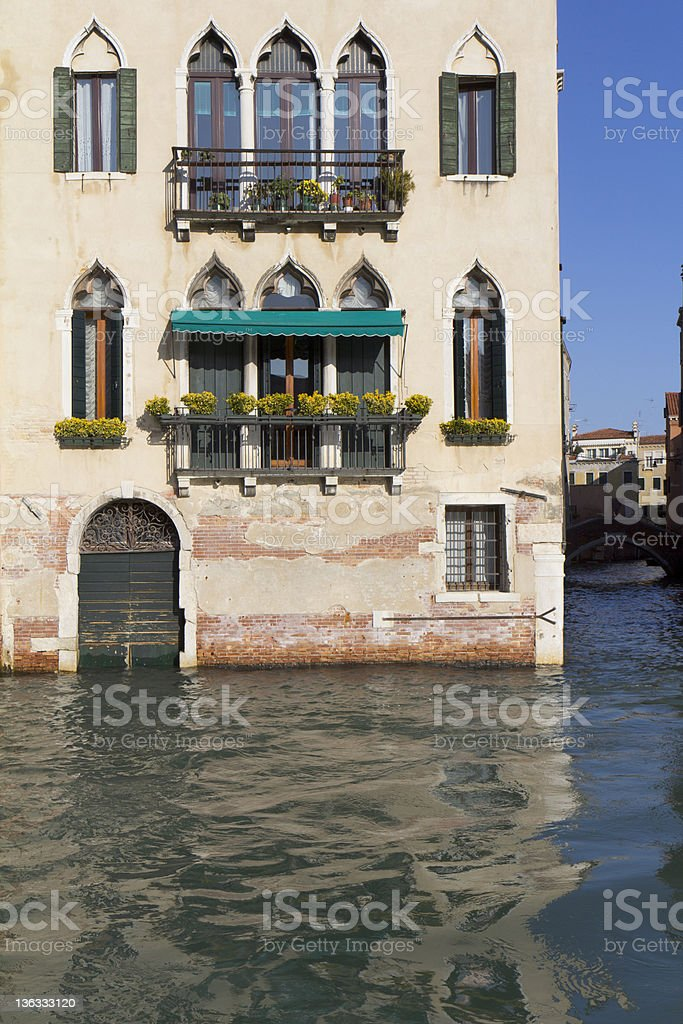 Beautiful facade in Venice. royalty-free stock photo