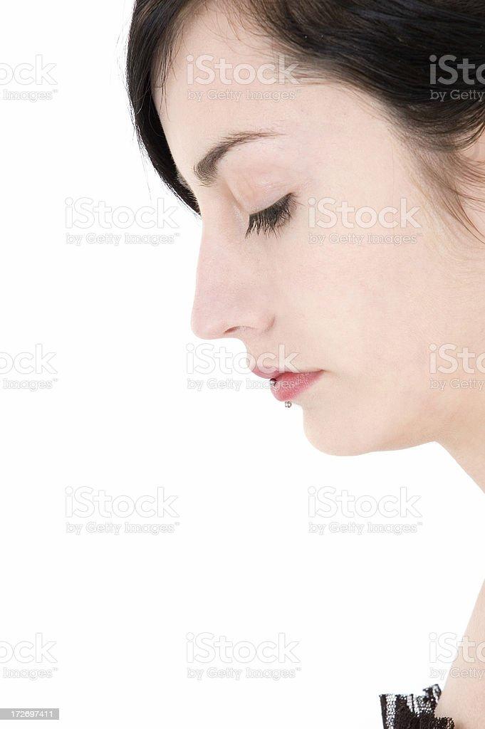 beautiful face portrait stock photo