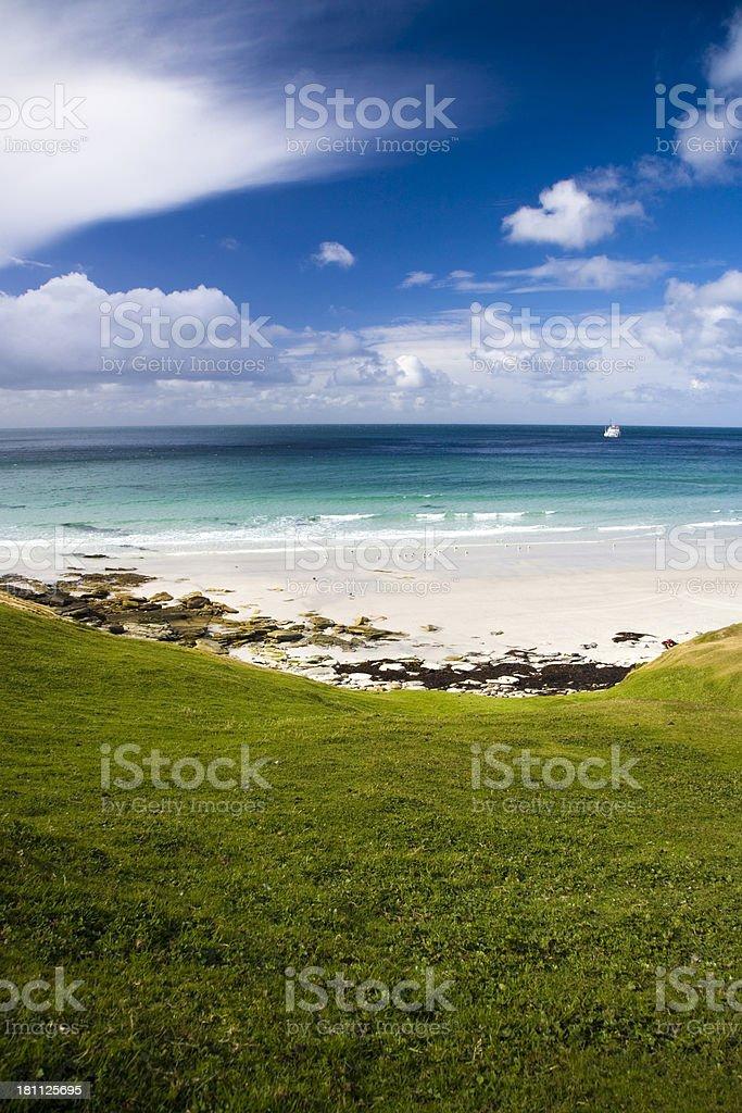 Beautiful Falklands Beach royalty-free stock photo