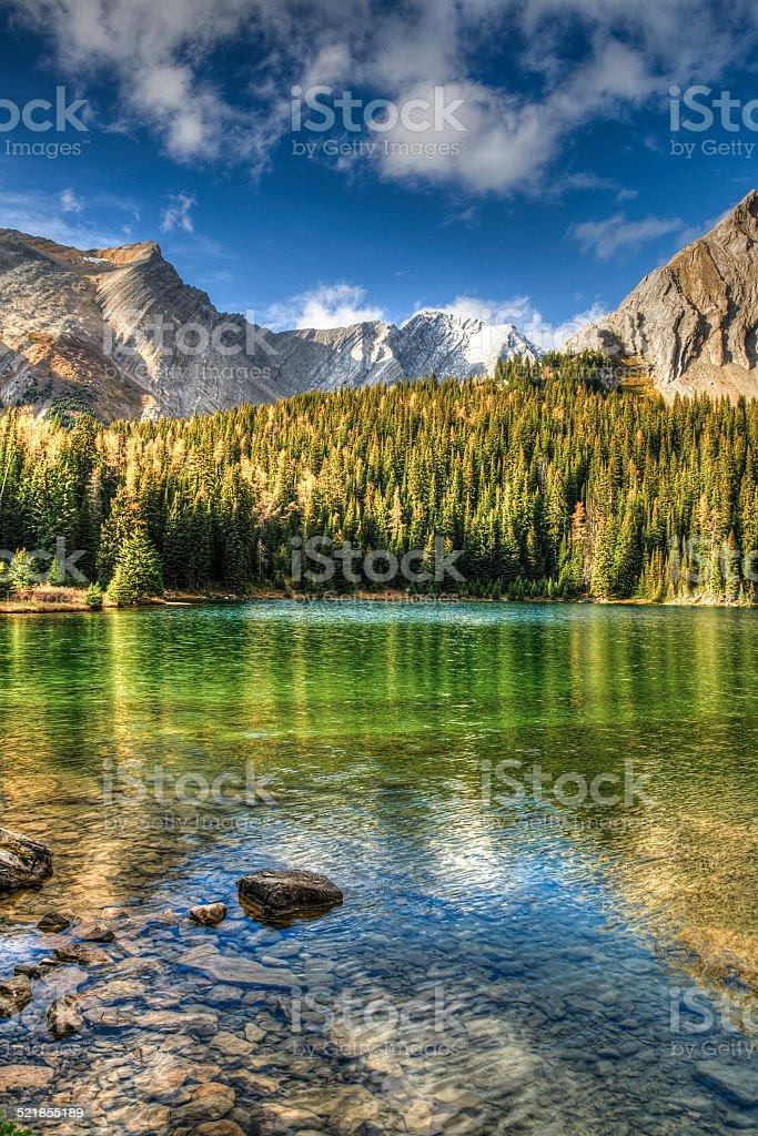 Beautiful fall mountain landscapes stock photo