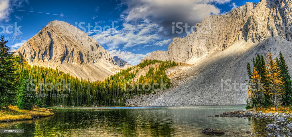 Beautiful fall mountain landscapes stock photo