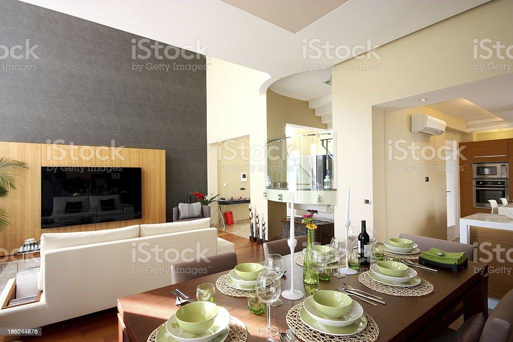 Beautiful family lounge royalty-free stock photo
