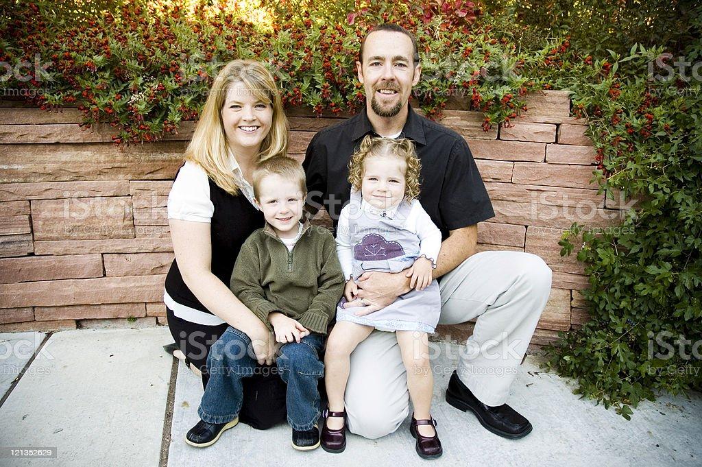 Beautiful Family of Four stock photo