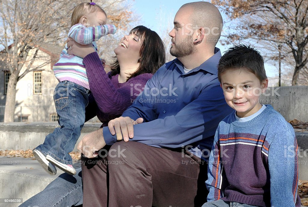 Beautiful Family of Four royalty-free stock photo