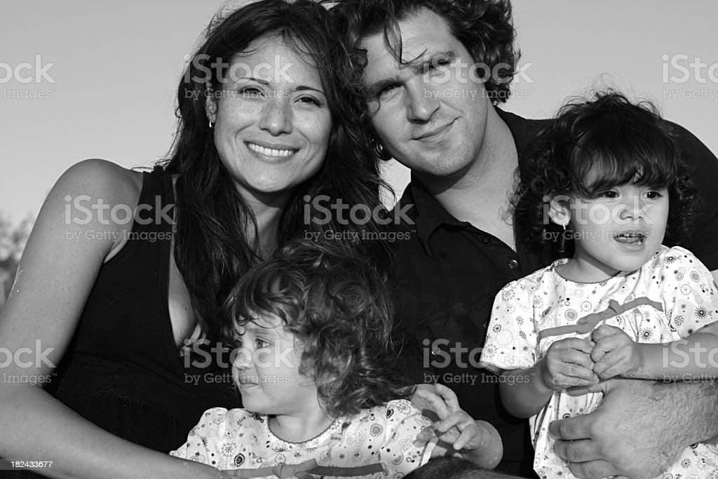 Beautiful Family royalty-free stock photo