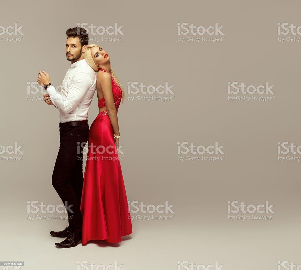 Beautiful fashion couple stock photo