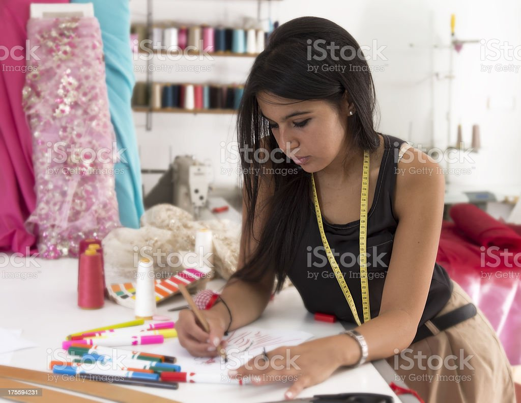 beautiful fashion designer stock photo