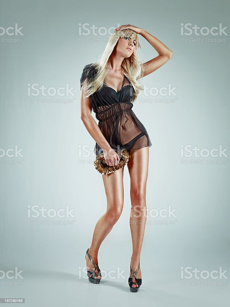 beautiful fashion model stock photo