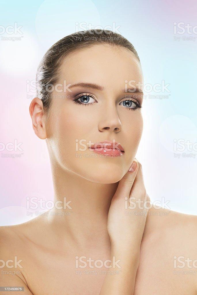 Beautiful fashion model royalty-free stock photo