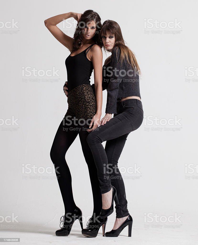 Beautiful fashion models. royalty-free stock photo