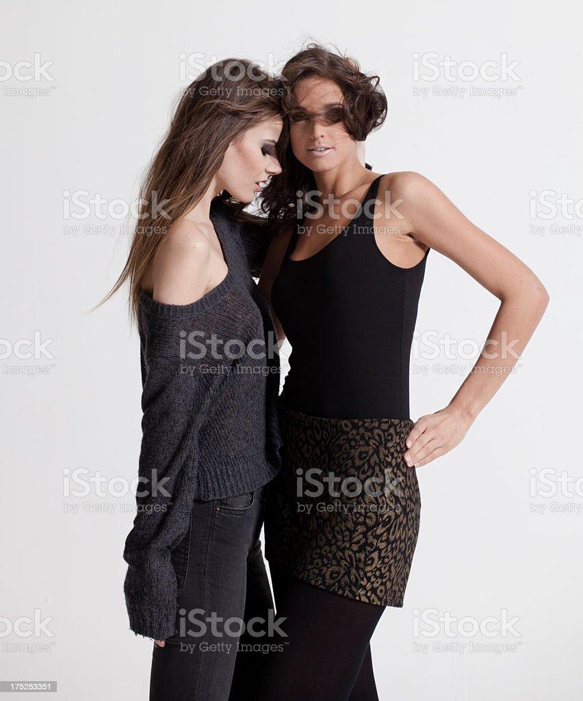 Beautiful fashion models royalty-free stock photo
